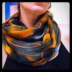 Sea turtle long scarf
